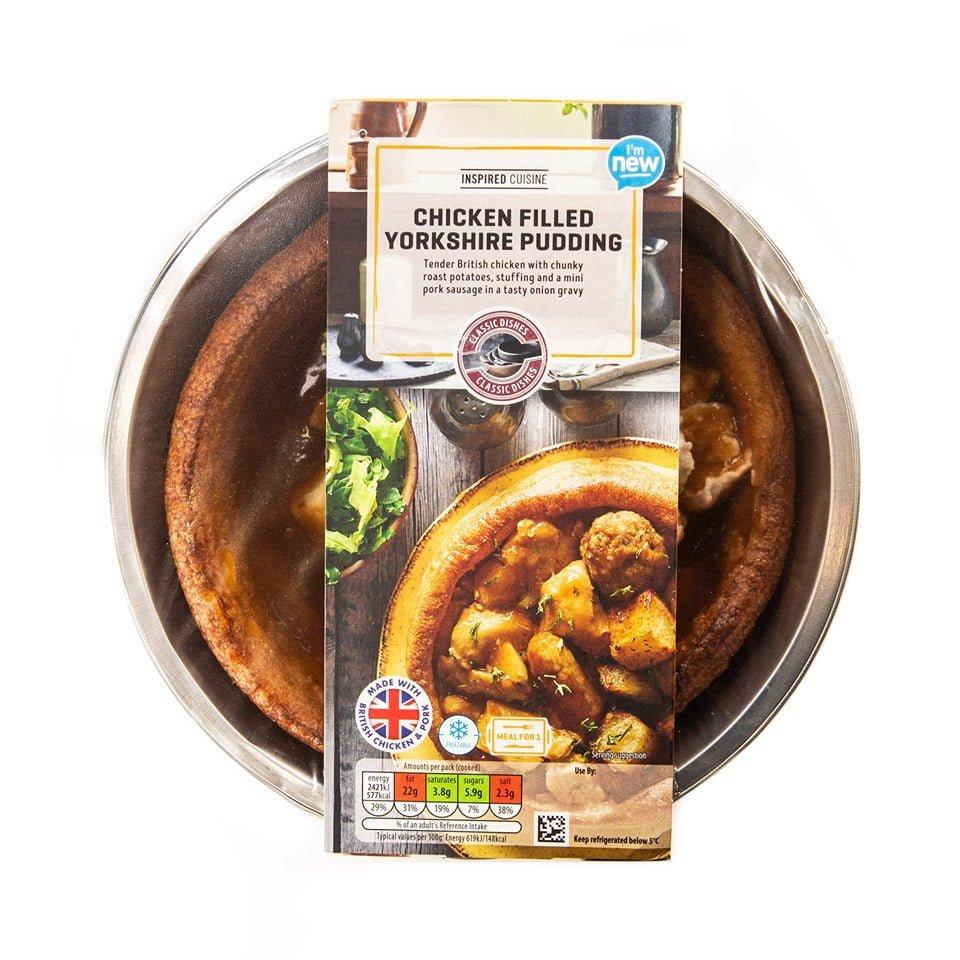 Aldi's Yorkshire pud filled roast dinner for £1.99…