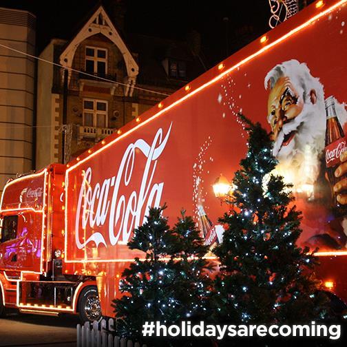 Coca-Cola truck is coming to Bristol Nov 22 & 23